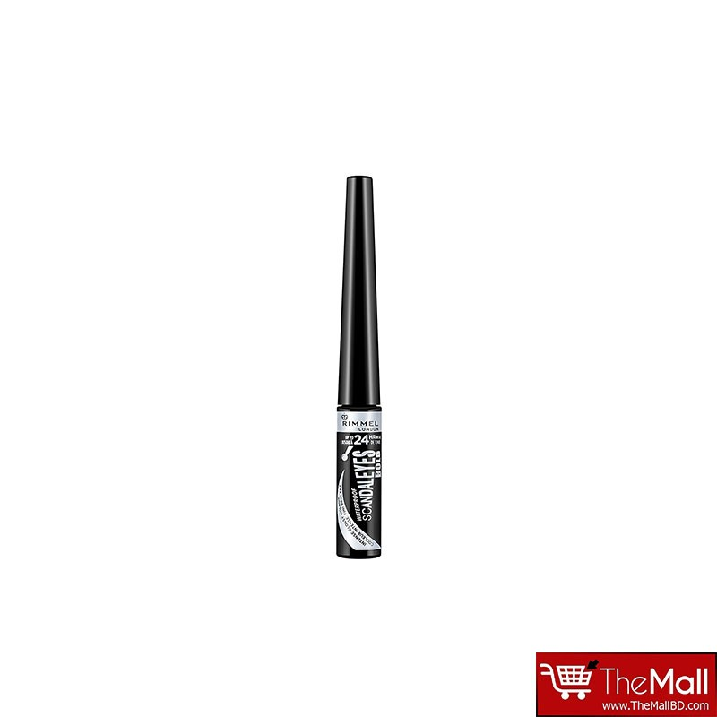 Rimmel Scandaleyes Bold Waterproof Liquid Eyeliner 2.5ml