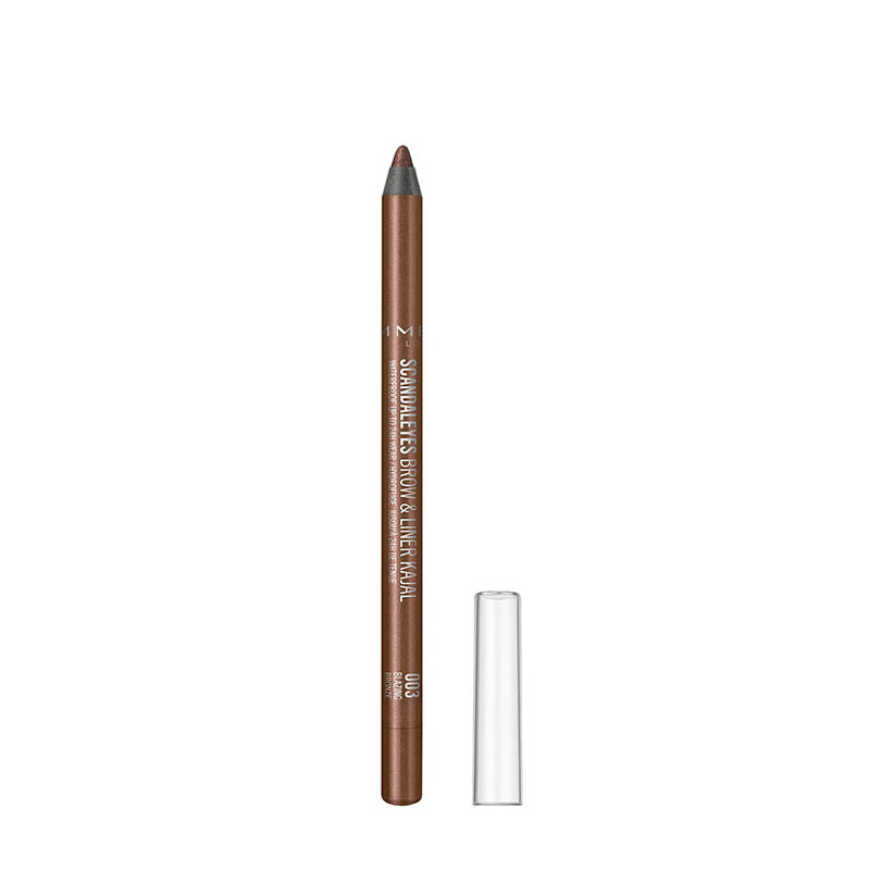 Rimmel ScandalEyes Waterproof Brow & Liner Kajal - 003 Blazing Bronze