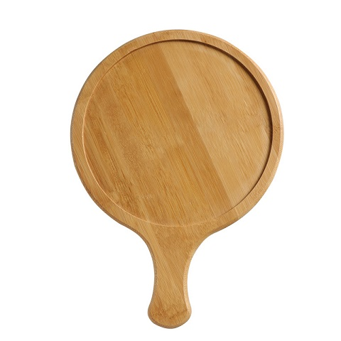 Round Wooden Pizza Serving Plate - Big