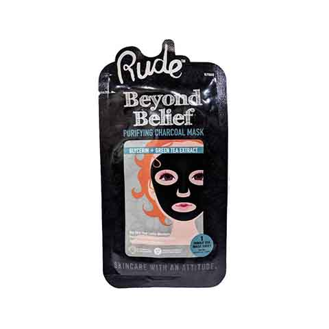 Rude Beyond Belief Purifying Charcoal Face Mask - 1 Piece