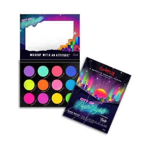 Rude Flix 12 Pastel Pigment & Eyeshadow Palette - City Of Pastel Lights