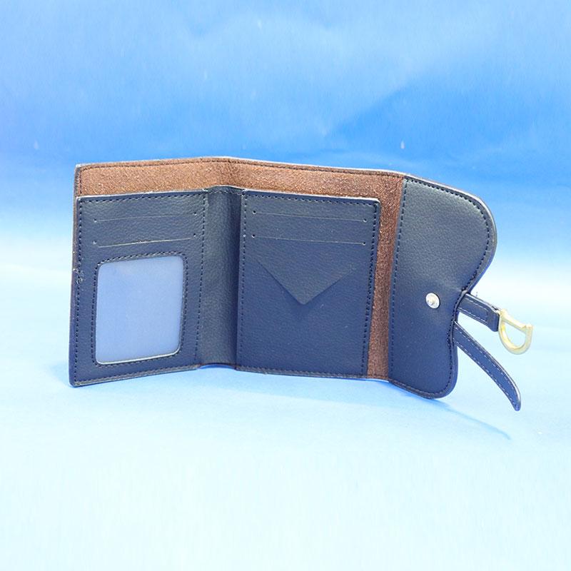 Saddle Lotus Bi-Fold Wallet for Women