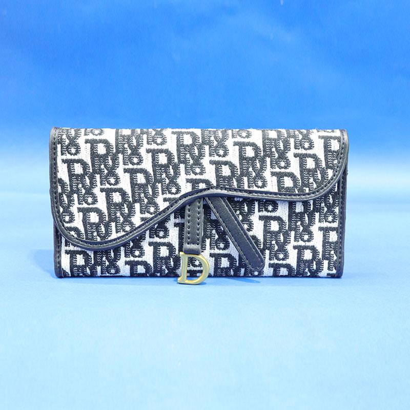 Saddle Lotus Tri-Fold Wallet for Women