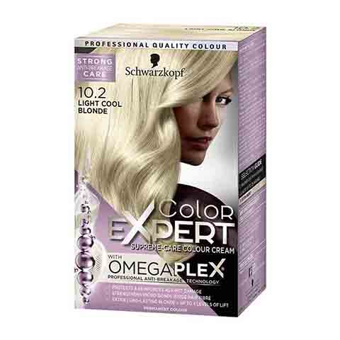 Schwarzkopf Color Expert Omegaplex Permanent Hair Colour - 10.2 Light Cool Blonde