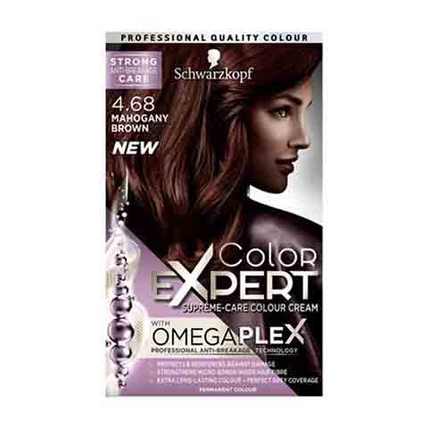 Schwarzkopf Color Expert Omegaplex Permanent Hair Colour - 4.68 Mahogany Brown