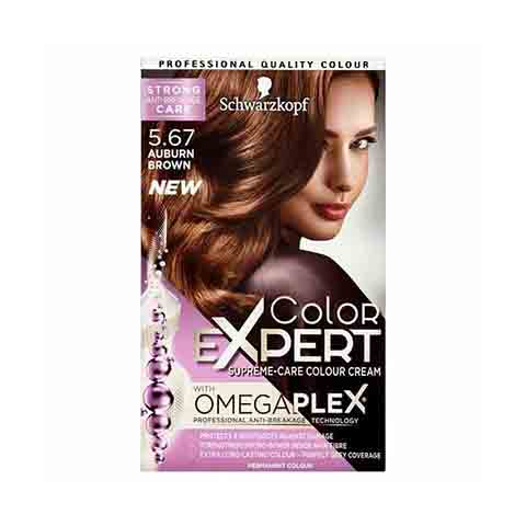 Schwarzkopf Color Expert Omegaplex Permanent Hair Colour - 5.67 Auburn Brown