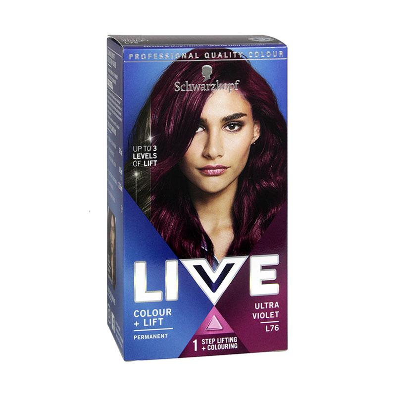 Schwarzkopf Live Intense Colour + Lift Permanent Hair Dye - L76 Ultra Violet