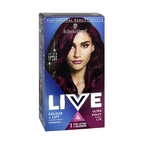 Schwarzkopf Live Intense Colour + Lift Permanent Hair Dye - L76 Ultra Violet