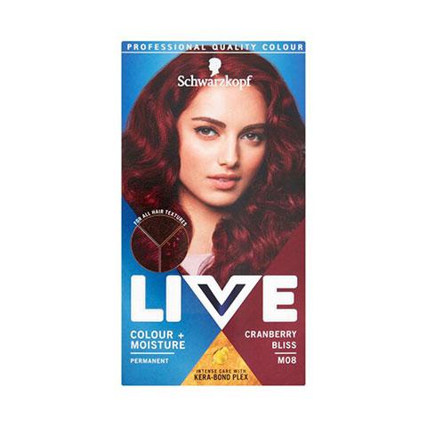 Schwarzkopf Live Moisture Hair Color - M08 Cranberry Bliss
