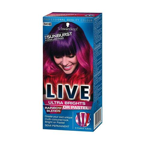 Schwarzkopf Live Ultra Brights Or Pastel Rainbow Blends Semi Permanent Hair Colour - 110 Sunburst Collection