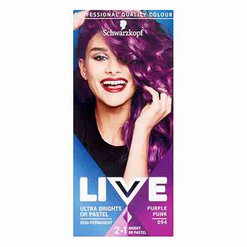 Schwarzkopf Live Ultra Brights Pastel Or Purple Punk Semi Permanent Hair Colour - 094