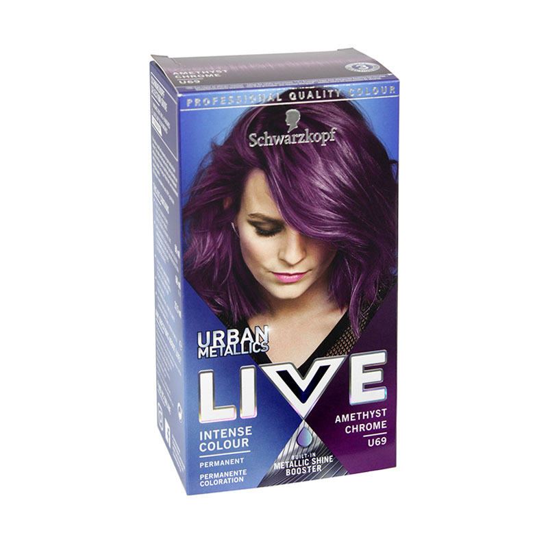 Schwarzkopf Live Urban Metallics Intense Hair Colour - U69 Amethyst Chrome