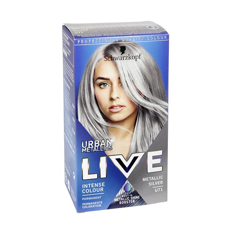 Schwarzkopf Live Urban Metallics Intense Colour - U71 Metallic Silver