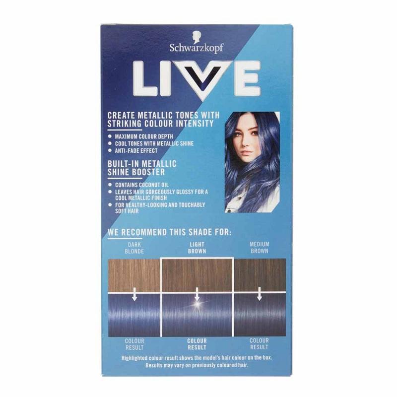 Schwarzkopf Live Urban Metallics Intense Hair Colour - U67 Blue Mercury