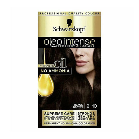 Schwarzkopf Oleo Intense Permanent Hair Colour - Black Brown 2-10