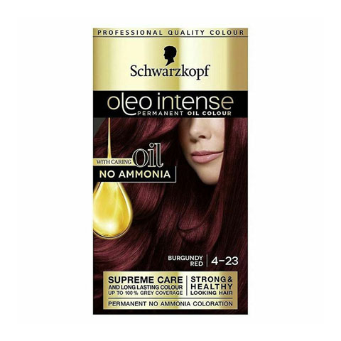 Schwarzkopf Oleo Intense Permanent Hair Colour - Burgundy Red 4-23
