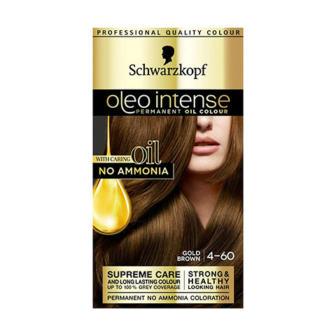 Schwarzkopf Oleo Intense Permanent Hair Colour - Gold Brown 4-60