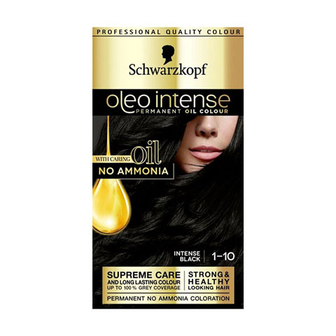Schwarzkopf Oleo Intense Permanent Hair Colour - Intense Black 1-10