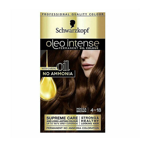 Schwarzkopf Oleo Intense Permanent Hair Colour - Mocca Brown 4-18