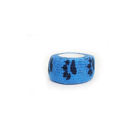 Self Adhesive Elastic Waterproof Roll Bandage For Dogs and Cats - Blue
