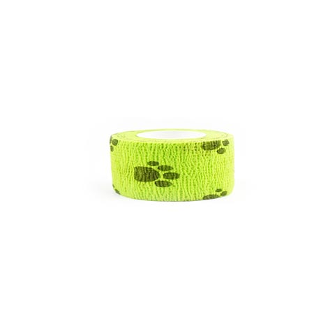 Self Adhesive Elastic Waterproof Roll Bandage For Dogs and Cats - Green