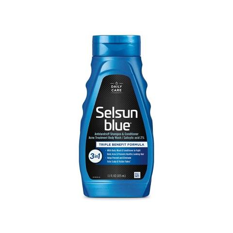Selsun Blue Daily Care 3-in-1 Antidandruff Shampoo + Conditioner + Body Wash 325ml