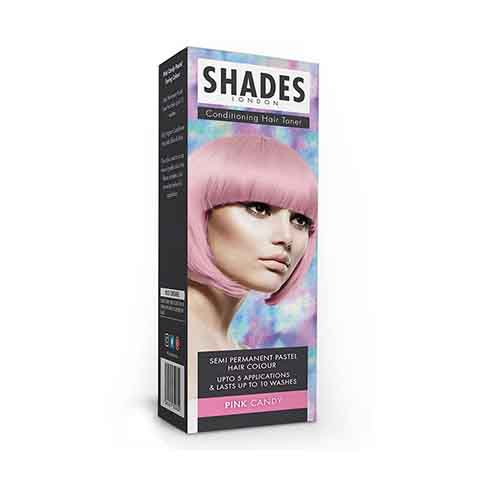 Shades London Conditioning Hair Toner Semi Permanent Pastel Hair Colour - Pink Candy