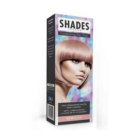 Shades London Conditioning Hair Toner Semi Permanent Pastel Hair Colour - Rose Gold