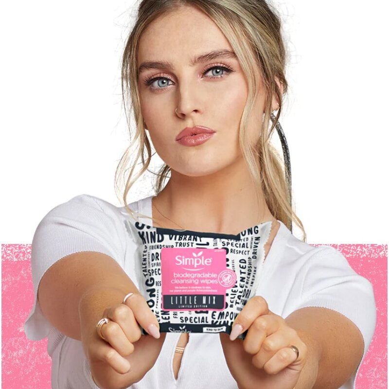 Simple Biodegradable Little Mix Cleansing Wipes - 20 Wipes