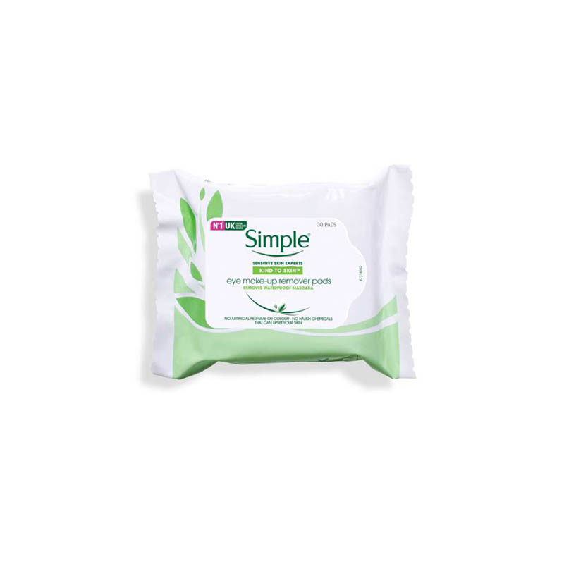 Simple Kind To Skin Eye Make Up Remover Pads - 30 Pads