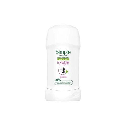 Simple Kind To Skin Invisible Anti-Perspirant Deodorant Stick 40ml