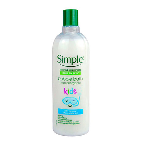 Simple Kind To Skin Kids Hypoallergenic Bubble Bath With Natural Chamomile Oil 400ml