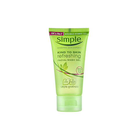 Simple Kind To Skin Refreshing Facial Wash Gel 50ml