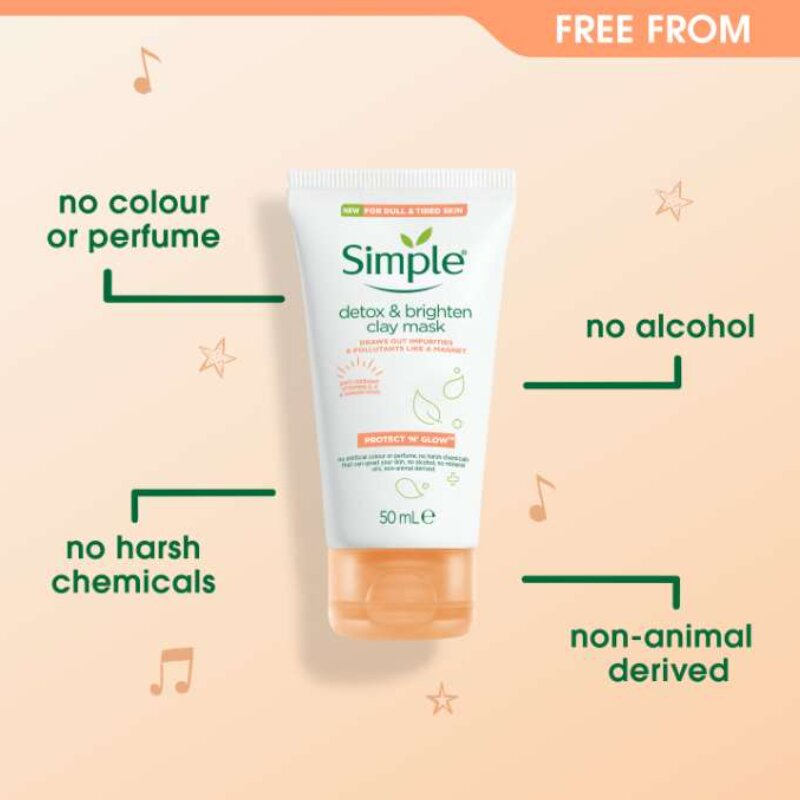 Simple Protect 'N' Glow Detox & Brighten Clay Mask 50ml