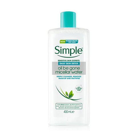 Simple Sensitive Skin Experts Daily Skin Detox Oil Be Gone Micellar Water 400ml
