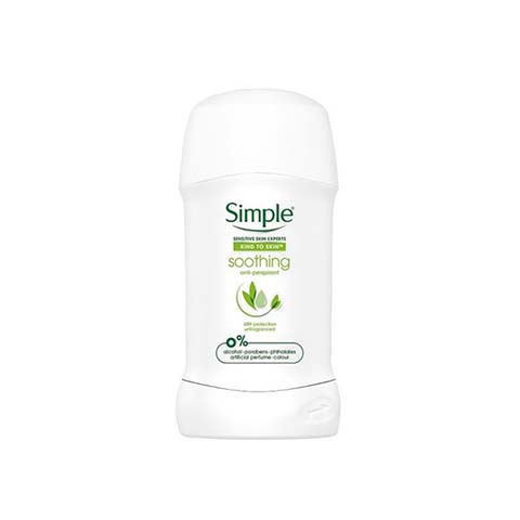 Simple Soothing Anti-Perspirant Stick - 40ml