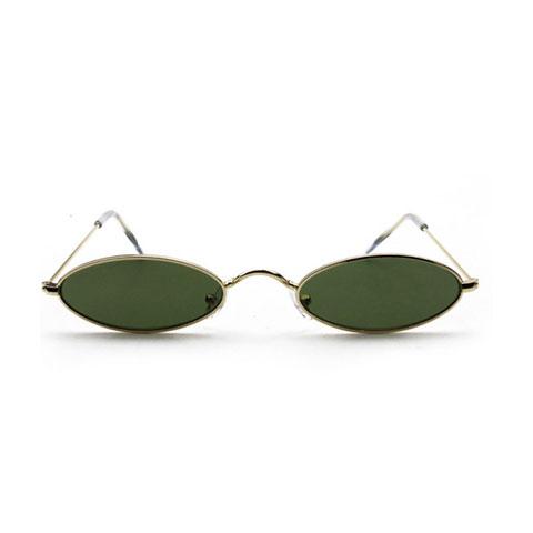 Small Retro Oval Frame Sunglasses
