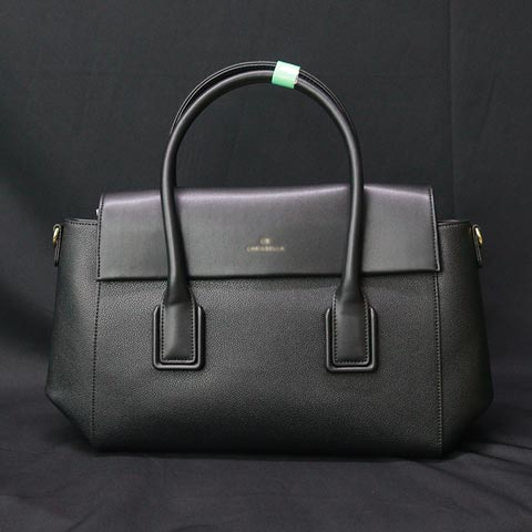 Solid Color One Sided Shoulder Diagonal Handbag (AA101908248) - Black