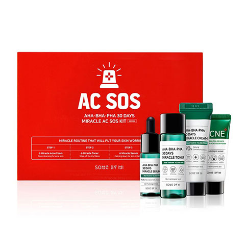 SOME BY MI AHA BHA PHA 30 Days Miracle AC SOS Kit Set