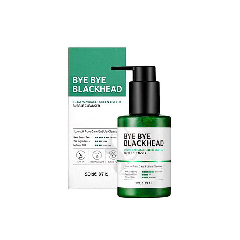 SOME BY MI Bye Bye Blackhead 30 Days Miracle Green Tea Tox Bubble Cleanser 120g