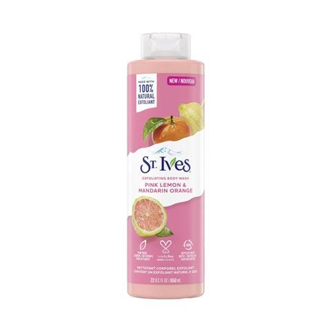 St. Ives Pink Lemon & Mandarin Orange Exfoliating Body Wash 650ml
