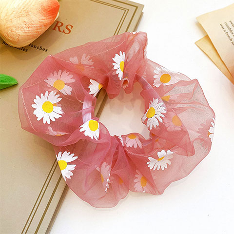 Sunflower Net Rubber Tie Hair Band