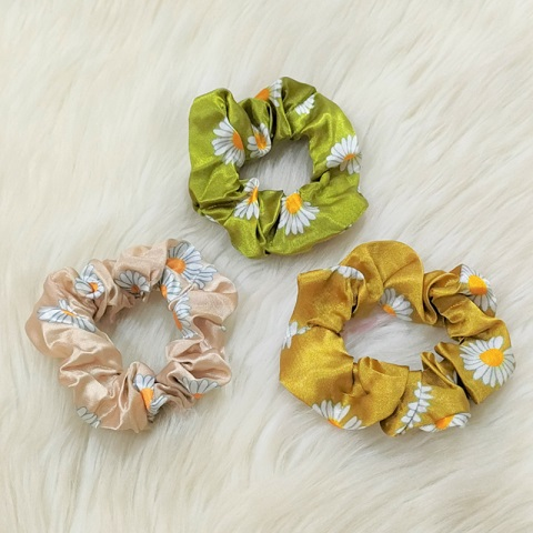 Sunflower Rubber Tie Hair Band 3pcs - Yellow (20149)