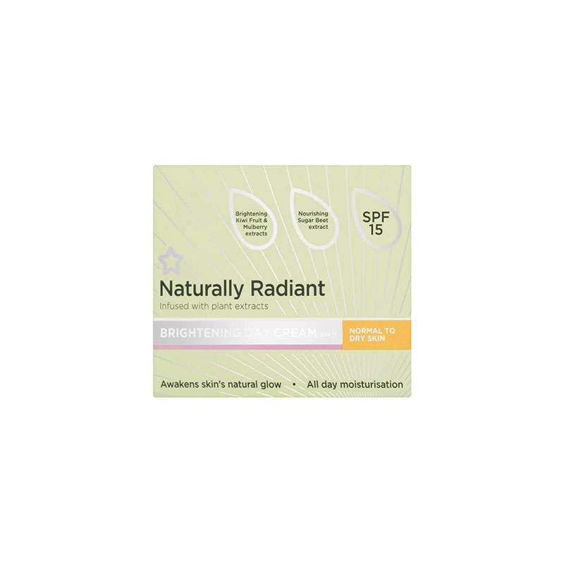 Superdrug Naturally Radiant Brightening Day Cream Normal to Dry Skin 75ml