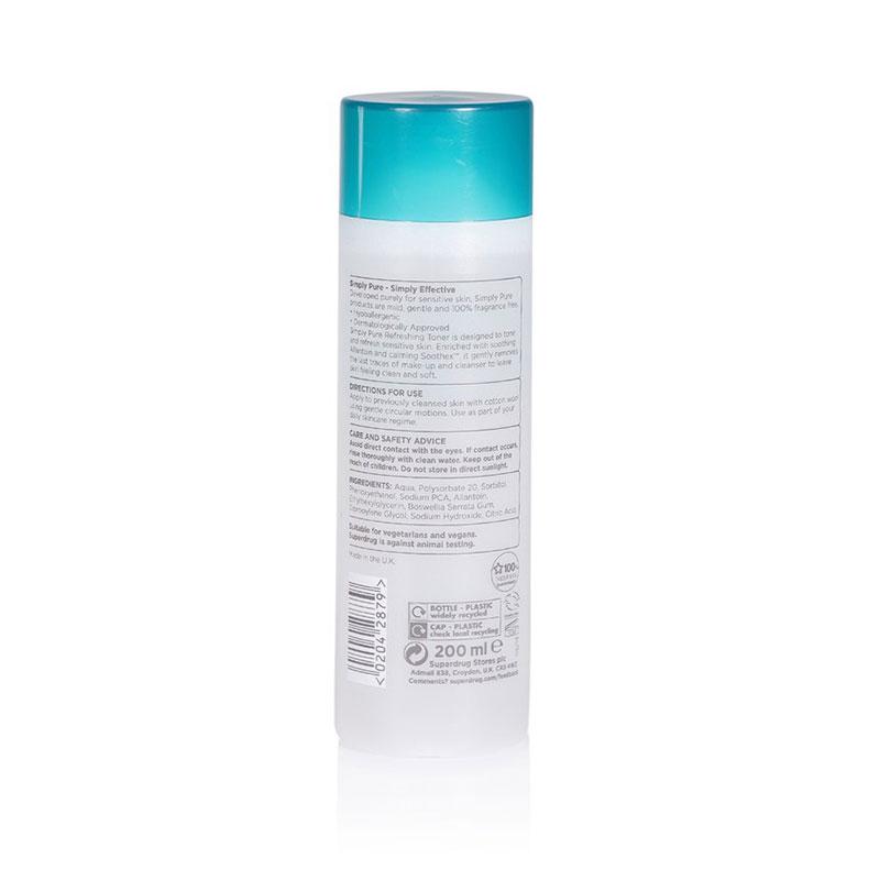 Superdrug Simply Pure Refreshing Toner For Sensitive Skin 200ml
