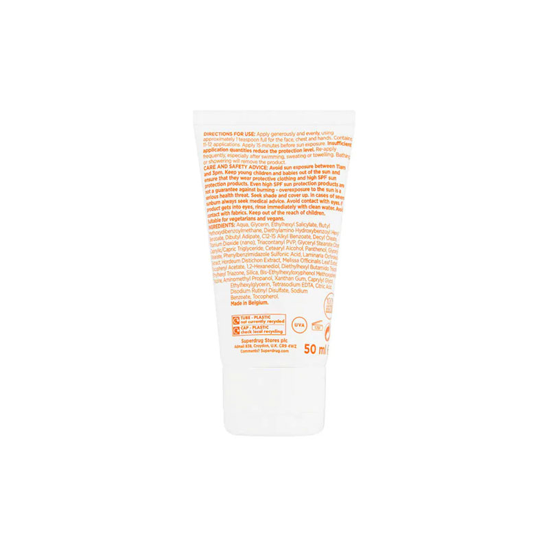 Superdrug Solait Anti-Ageing Sensitive Face Lotion SPF 50 - 50ml
