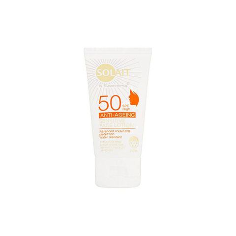 Superdrug Solait Anti-Ageing Sensitive Face Lotion 50ml - SPF50