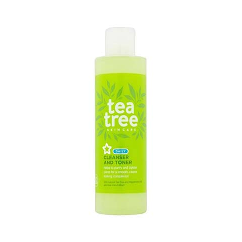 Superdrug Tea Tree Daily Cleanser And Toner 200ml