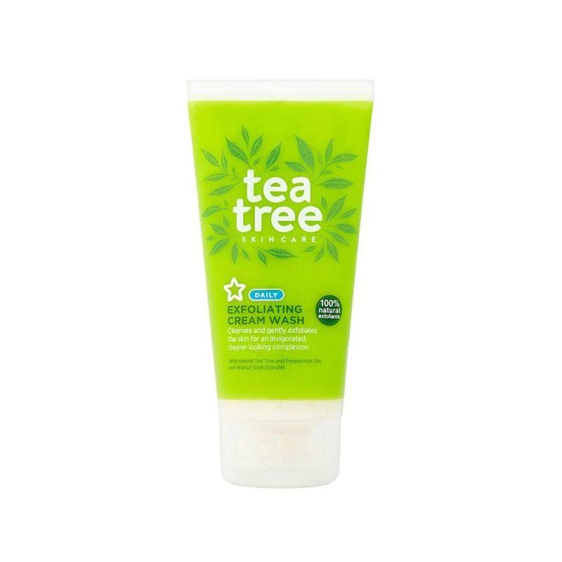 Superdrug Tea Tree Exfoliating Cream Wash 150ml