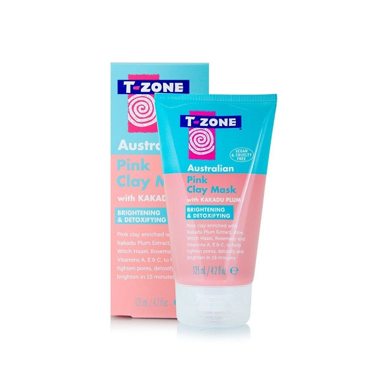 T-Zone Australian Pink Clay Mask With Kakadu Plum 125ml